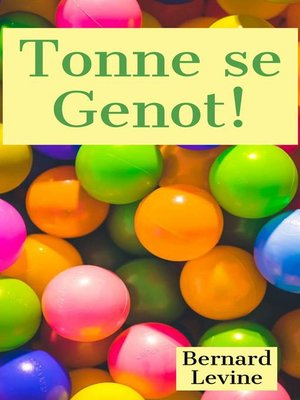 cover image of Tonne se Genot!