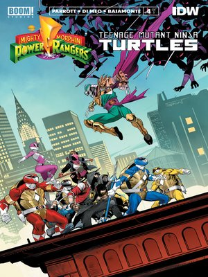 cover image of Mighty Morphin Power Rangers/Teenage Mutant Ninja Turtles, Issue 4