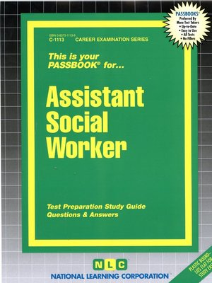cover image of Assistant Social Worker