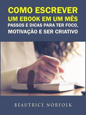 cover image of Como escrever um ebook em um mês