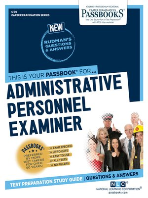 cover image of Administrative Personnel Examiner