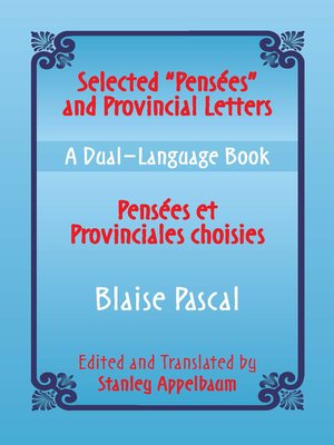 "cover image of Selected ""Pensees"" and Provincial Letters (Pensees et Provinciales choisies)"