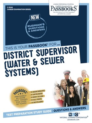 cover image of District Supervisor (Water & Sewer Systems)