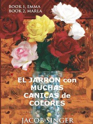 cover image of El jarrón con muchas canicas de colores