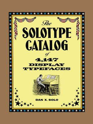 cover image of The Solotype Catalog of 4,147 Display Typefaces