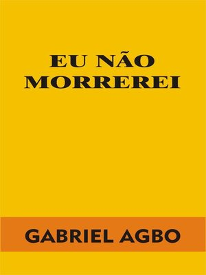 cover image of Eu não morrerei