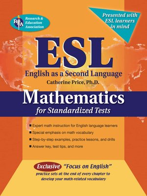 cover image of ESL Mathematics for Standardized Tests