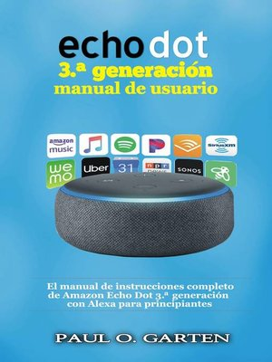 cover image of Echo Dot 3.ª generación manual de usuario