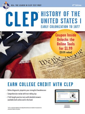 cover image of CLEP History of the United States I w/Online Practice Exams