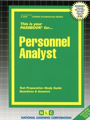 cover image of Personnel Analyst