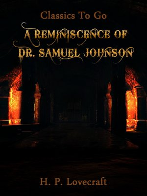 cover image of A Reminiscence of Dr. Samuel Johnson