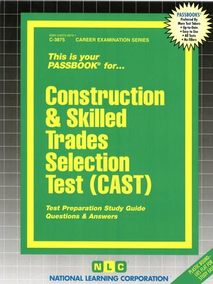 cover image of Construction and Skilled Trades Selection Test (CAST)