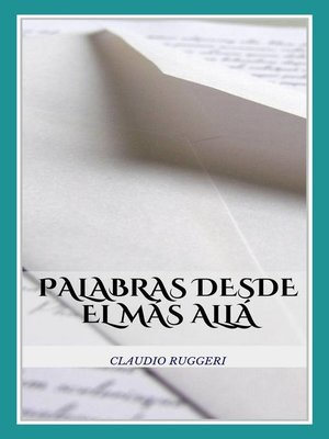 cover image of Palabras Desde El Más Allá