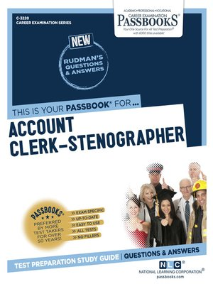 cover image of Account Clerk-Stenographer