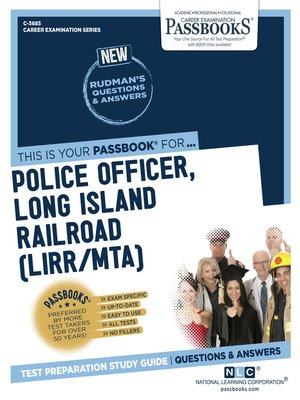 cover image of Police Officer, Long Island Railroad (LIRR/MTA)