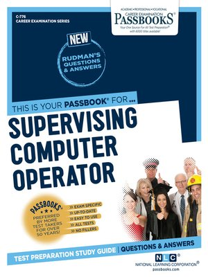 cover image of Supervising Computer Operator
