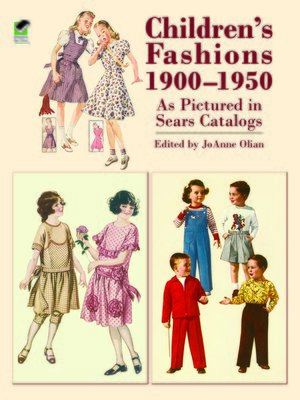 cover image of Children's Fashions 1900-1950 As Pictured in Sears Catalogs