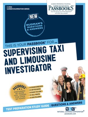 cover image of Supervising Taxi and Limousine Investigator