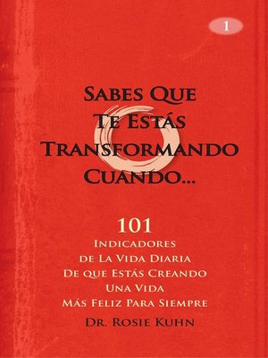 cover image of Sabes Que Te Estás Transformando Cuando...