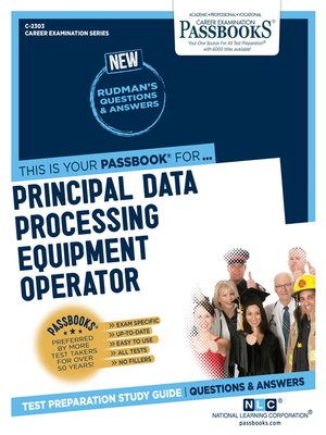 cover image of Principal Data Processing Equipment Operator