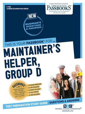 cover image of Maintainer's Helper, Group D