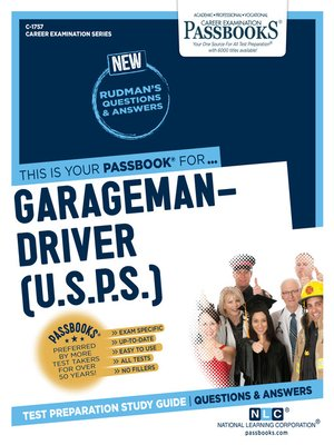 cover image of Garageman-Driver (U.S.P.S.)