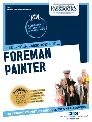 cover image of Foreman Painter