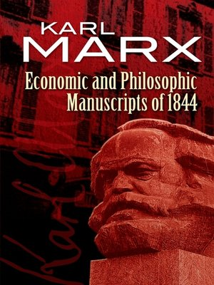 cover image of Economic and Philosophic Manuscripts of 1844