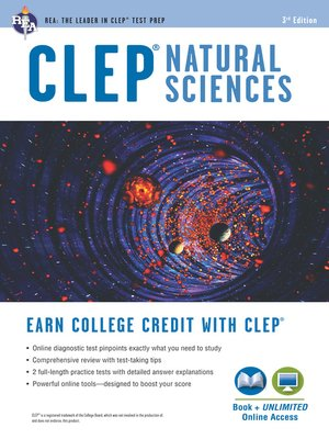 cover image of CLEP® Natural Sciences Book + Online