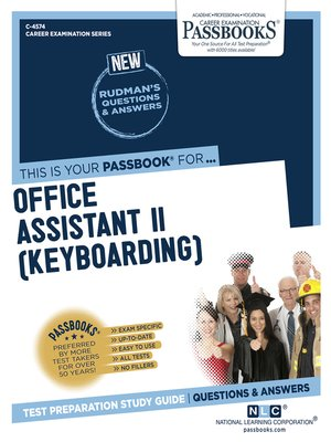 cover image of Office Assistant II (Keyboarding)