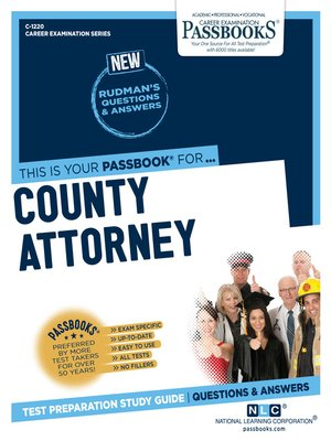 cover image of County Attorney