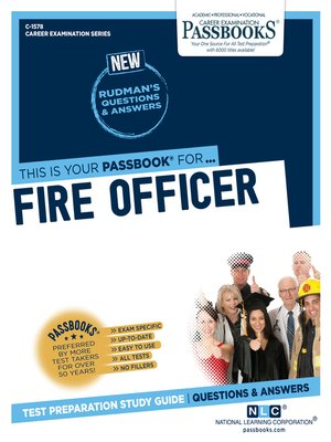 cover image of Fire Officer