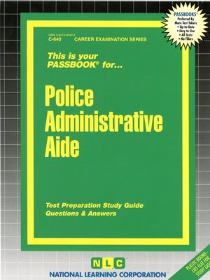 cover image of Police Administrative Aide