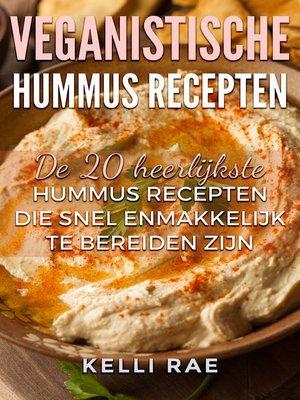cover image of Veganistische hummus recepten