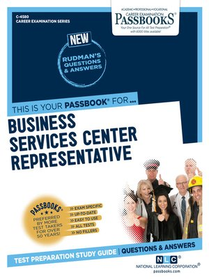 cover image of Business Services Center Representative