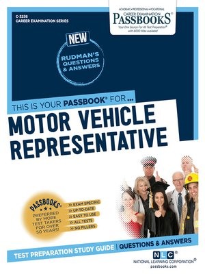 Motor Vehicle Representative by National Learning