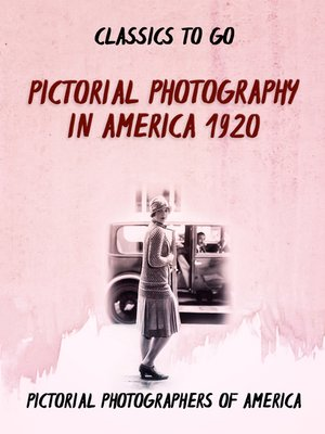 cover image of Pictorial Photography in America 1920