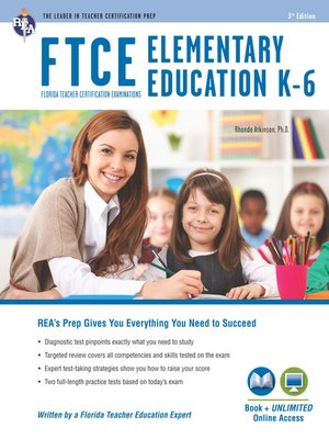 cover image of FTCE Elementary Education K-6 Book + Online