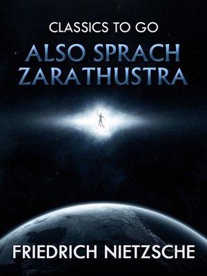 cover image of Also sprach Zarathustra