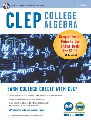 cover image of CLEP College Algebra Book + Online