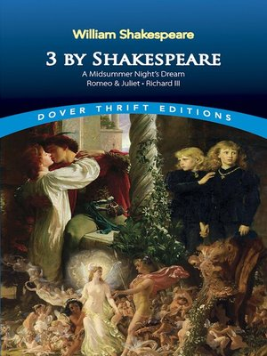 cover image of 3 by Shakespeare