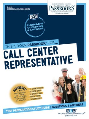 cover image of Call Center Representative