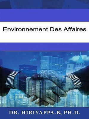 cover image of Environnement des affaires
