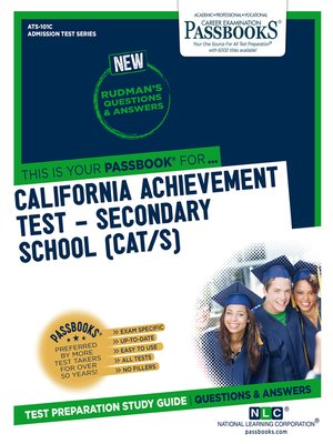 cover image of CALIFORNIA ACHIEVEMENT TEST – SECONDARY SCHOOL (CAT/S)