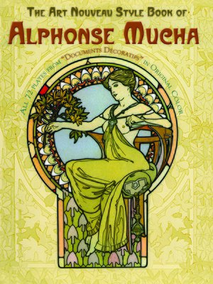 cover image of The Art Nouveau Style Book of Alphonse Mucha