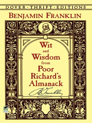 Ebook Wit And Wisdom From Poor Richards Almanack By Benjamin Franklin