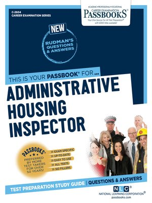 cover image of Administrative Housing Inspector