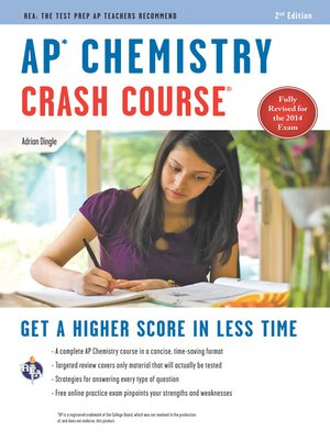 cover image of AP Chemistry Crash Course Book + Online