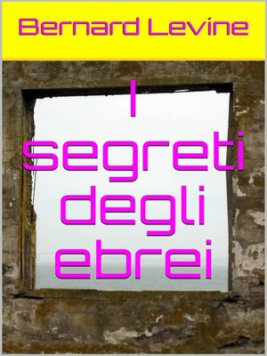 cover image of I segreti degli ebrei