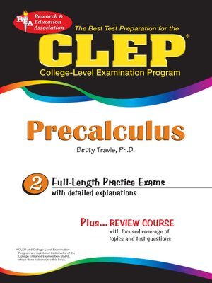 cover image of CLEP Precalculus